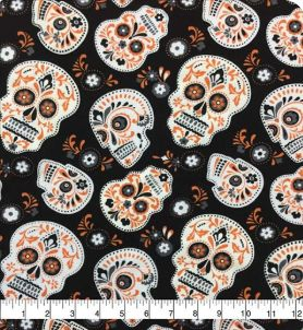 Sugar Skulls -- cotton