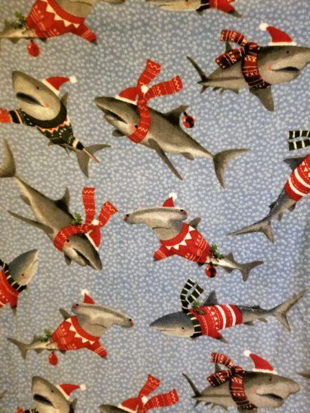 Sharks in Sweaters - fleece ** back by popular demand **
