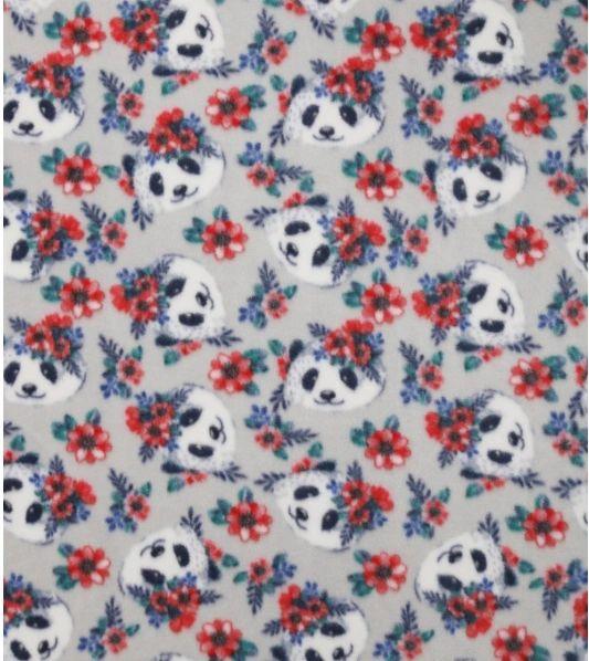 Floral Pandas - fleece