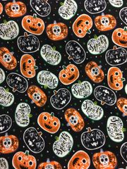 Spooky Pumpkins -- cotton