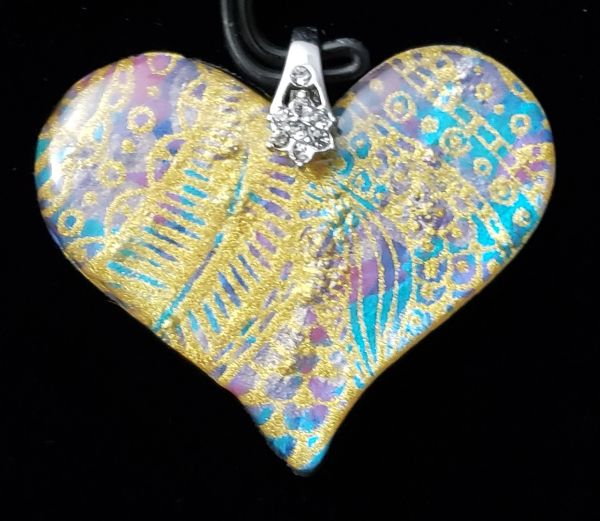 Resin Heart Pendant