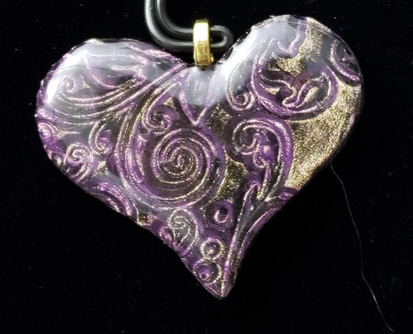 Resin Heart Pendant 2