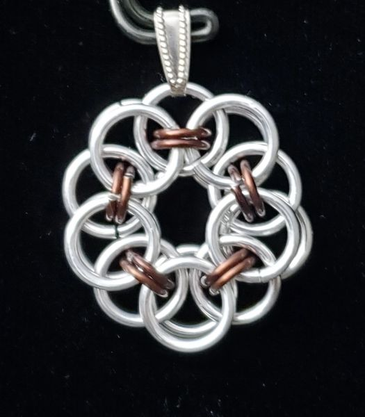 Wire Flower Pendant 1