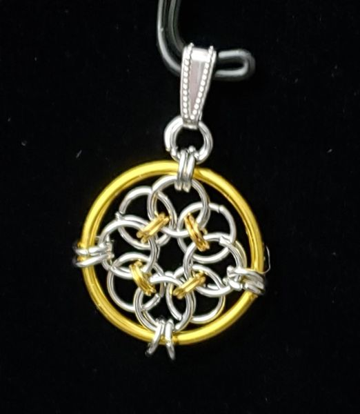 Wire Flower Pendant 2