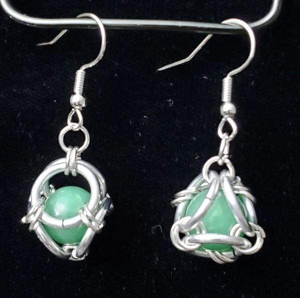 Caged Aventurine Earrings