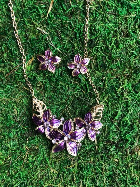 purple HI flower set