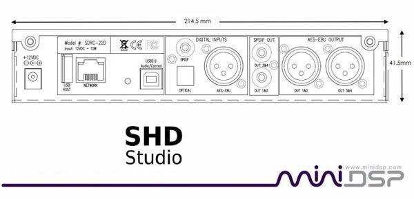 miniDSP SHD Studio Network Streaming Processor - Dirac Room Correction -  Volumio Streaming