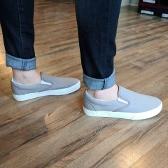 Gray Slip On Flat Sneakers