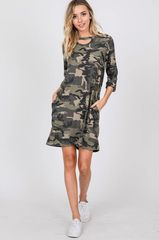 Camo Dress w/Pockets