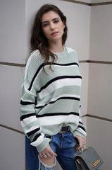 Ice Green Striped Sweater