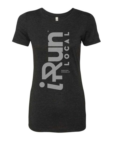 iRun LOCAL T Shirt - Women's - Black