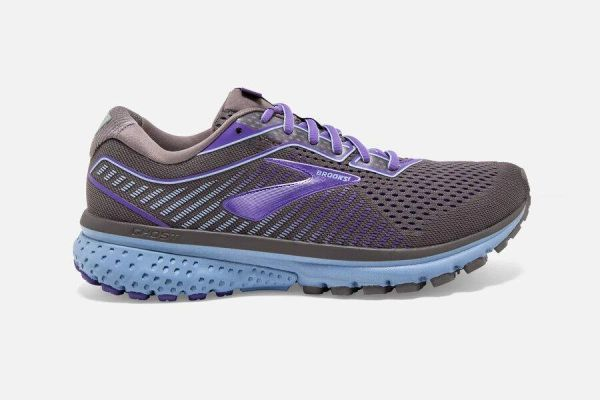 BROOKS GHOST 12 WOMEN'S - SHARK/VIOLET/BEL AIR BLUE