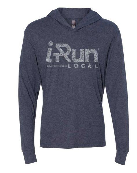 iRun LOCAL Pullover Hoodie - Indigo - Unisex