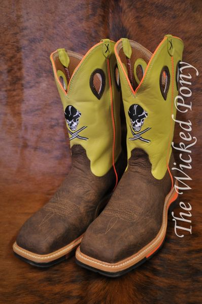 Men's Twisted X Neon Yellow Lite Cowboy Work Boots   The ...