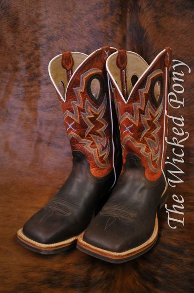 b5fb24a5775 Men's Twisted X Chocolate and Orange Horseman Cowboy Boots