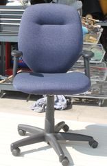 Dark Blue Office Desk Chair w/ Arms