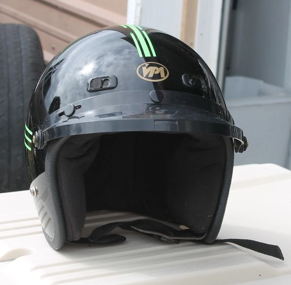 VPI Full Helmet-Large 7 1/4-7 3/8 ( Black )