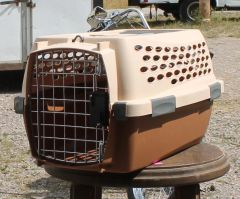 PetMate Brown and Tan Pet Taxi / Kennel / Carrier-EXTRA SMALL
