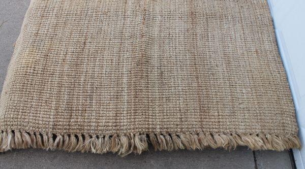 "60"" x 100"" (Jute/ Burlap ?) Carpet Rug"