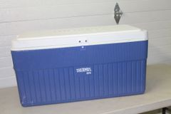 104 Qt. Blue And White Coleman Cooler
