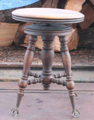 Antique Claw Foot Piano Stool