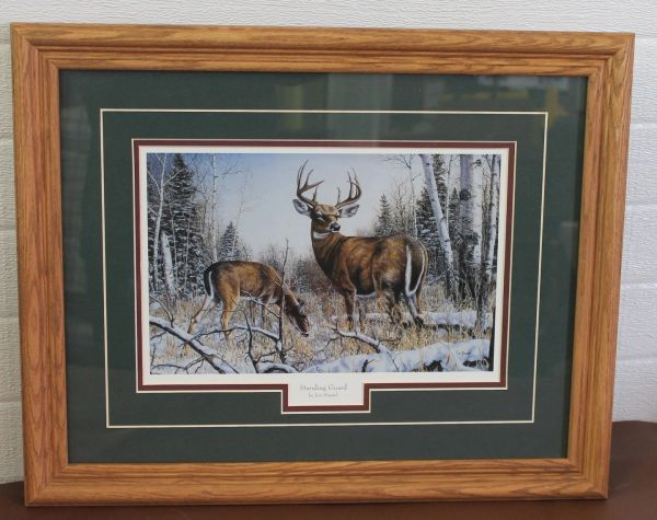 """Standing Guard"" Wood Frame and Matte Print/Painting by Jim Hansel"