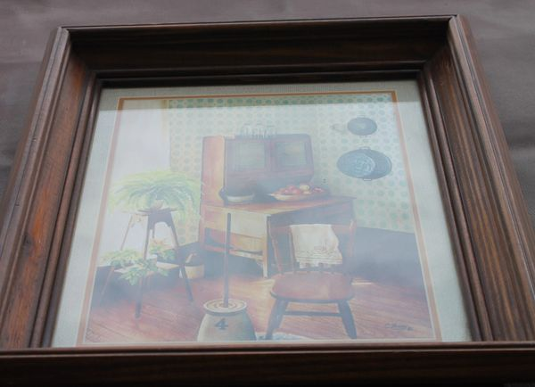 Farmhouse Kitchen Wood Framed Print Picture