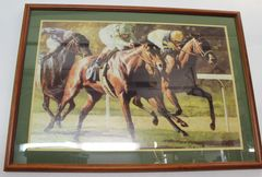 Race Horse Framed Photo Picture Print