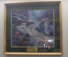"""Gold Framed """"Spring Gate"""" by Thomas Kinkade Print Picture"""