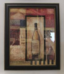 """Wood Framed Print Picture of """"Wine"""""""