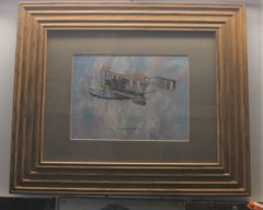 Curtiss NC-4 1919 Bi Plane in Wood Framed Painting Picture