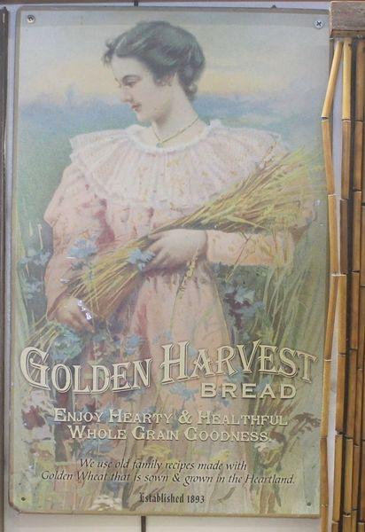 """Metal Picture """"Golden Harvest Bread"""""""
