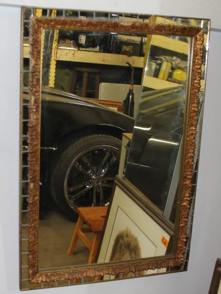 Vintage Gold and Mirror Framed Mirror