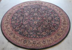 Flower Print Circle Quality Area Rug Carpet