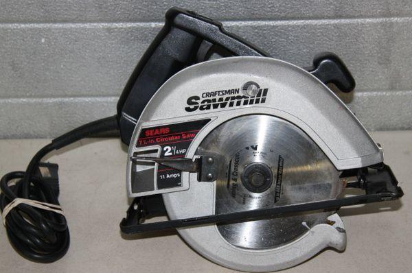 """Sears Craftsman Sawmill 7 1/4"""" Circular Saw"""