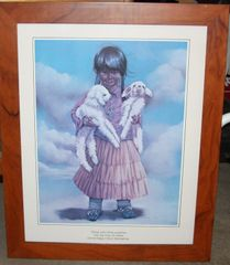 """Native Girl with Lambs"" Print"