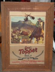Cowboy Roping Cows-Gus Topper Beer/Kalispell Malting &Brewing Co.
