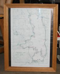 Framed Map of Flathead Lake