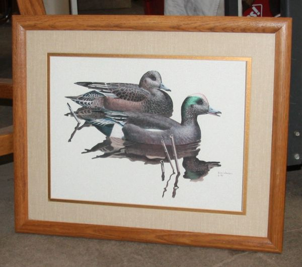 """Ducks"" Framed Print by Brian Wheeler 1981"
