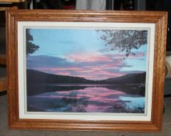 """Sunset on Water"" Framed Photo"
