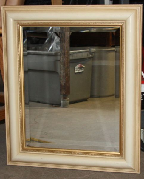 Framed Heavy Beveled Mirror