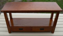 Wood Hall Table with 2 Drawers