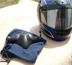 HJC Full Face Helmet with Air Mask and Sack
