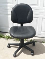 Black Office Chair-No Arms
