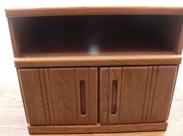 Oak and Press Wood TV Stand