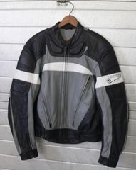 First Gear Size 44 Leather Biker Jacket w/ Removable Liner