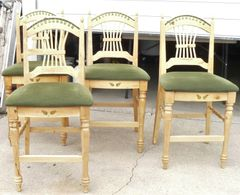 Knotty Pine Bar Height Set of 4 Chairs