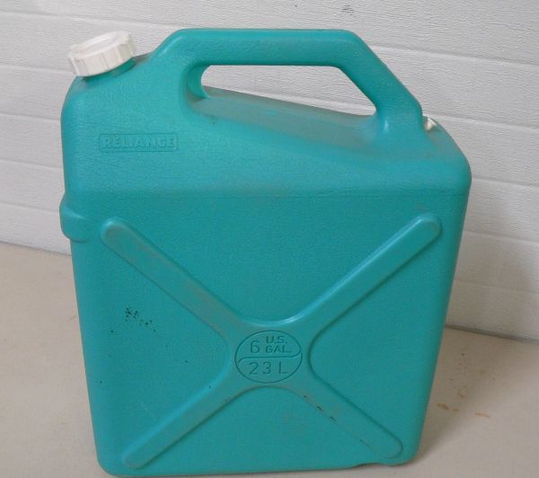 Reliance 6 Gallon Plastic Water Storage Container