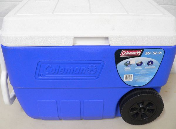 Coleman 56qt Cooler with Wheels and Pull Handle