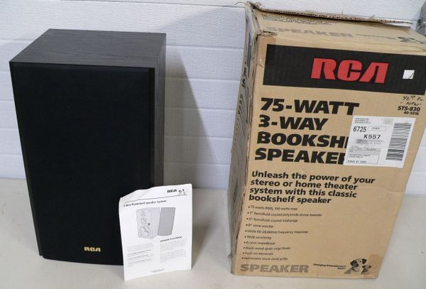 RCA 75 Watt 3 Way Bookshelf Speaker
